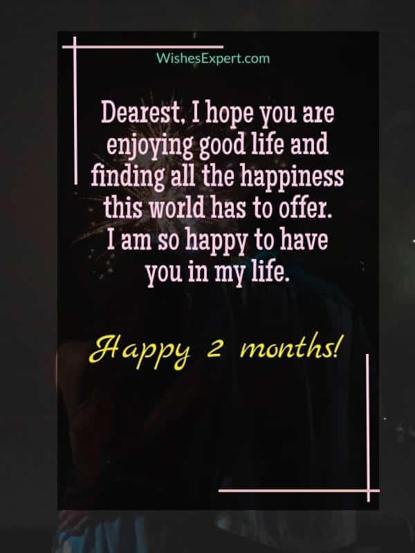 happy 2 months