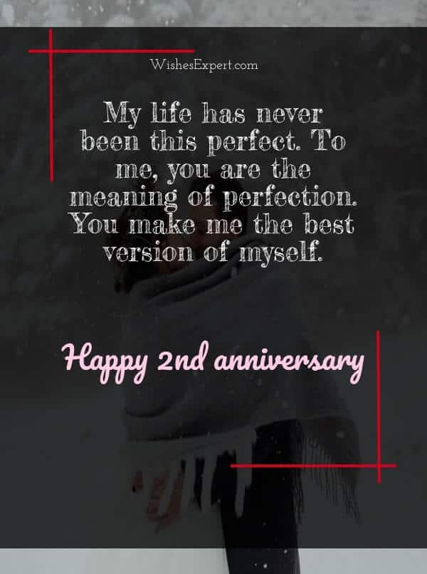 2nd year anniversary quotes