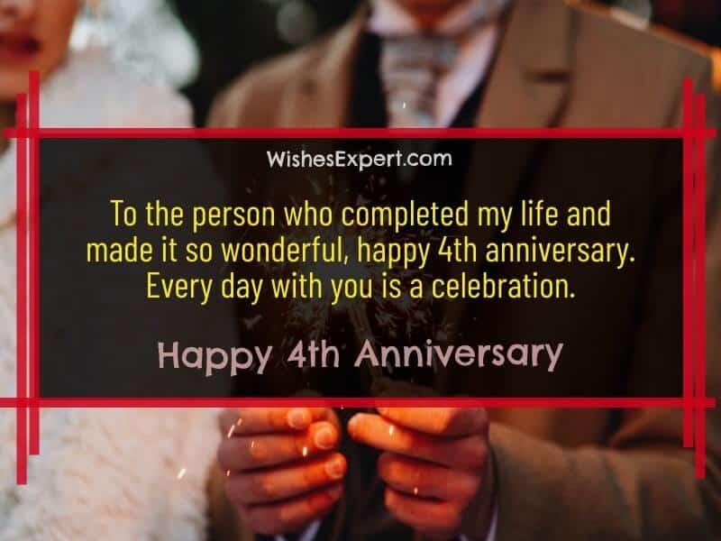 Happy 4 Year Anniversary