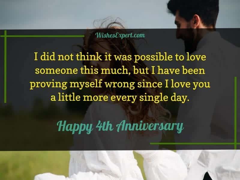 4 Year Anniversary