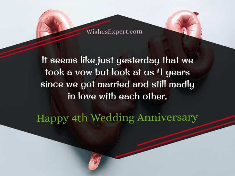 4th Wedding Anniversary