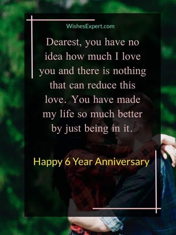 6 Year Anniversary Wishes
