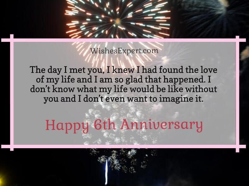 Happy 6th Anniversary Quotes