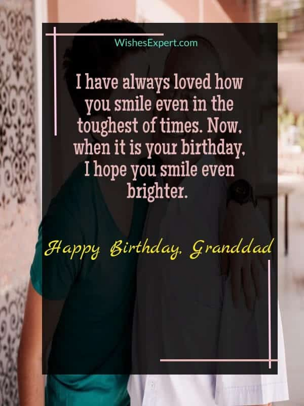 Birthday Wishes for Granddad