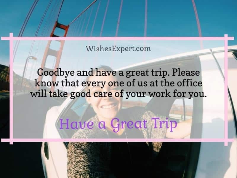 have a great trip wishes