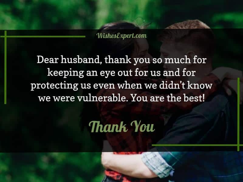 Thank You Message for Husband for Everything