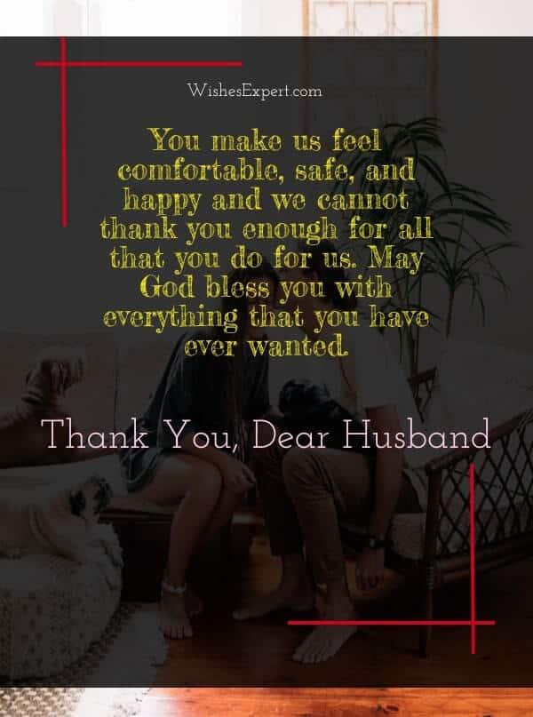 Appreciation Message for Husband