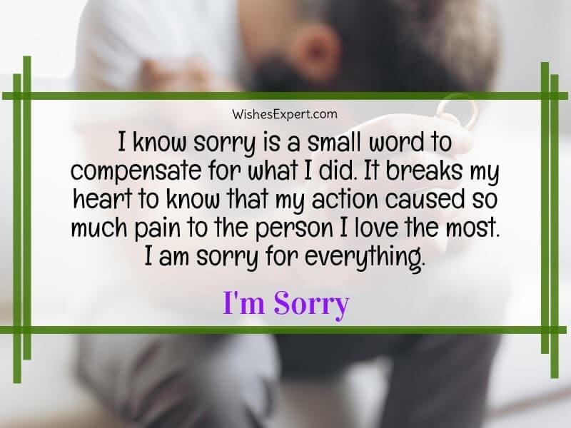Apology to girlfriend