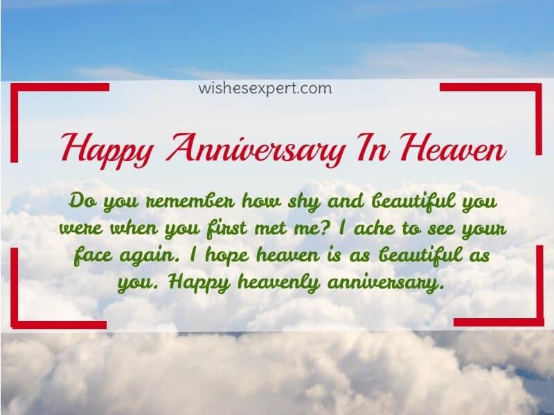 Happy heavenly anniversary