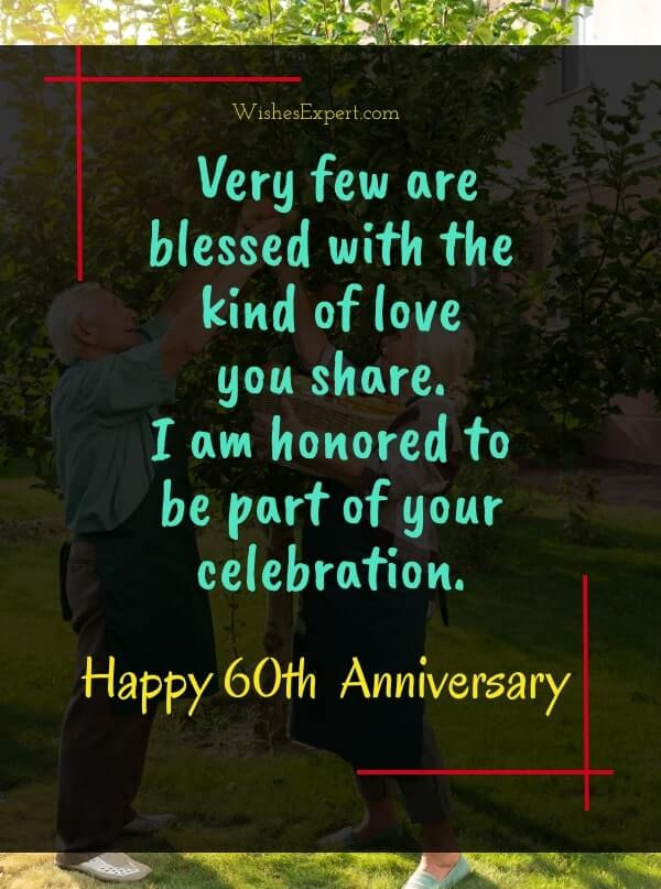 What To write in card for 60th anniversary