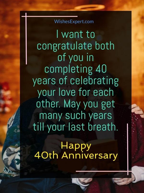 40-year Wedding Anniversary