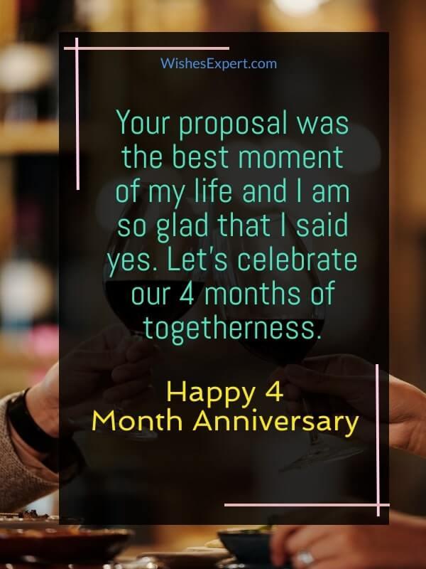 Boyfriend 4 month Anniversary Text messages