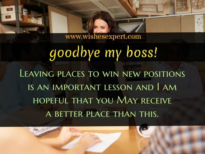 Farewell Quotes for Boss