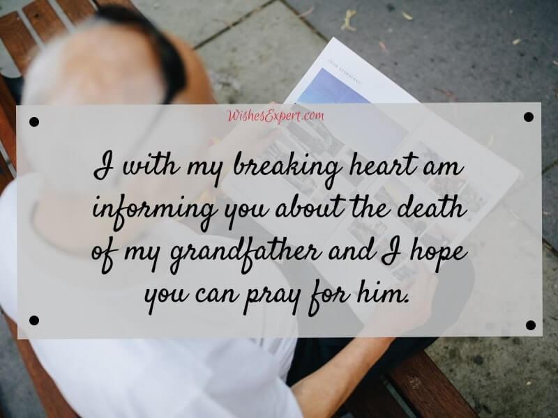 Grandfather-Pass-Away-Message