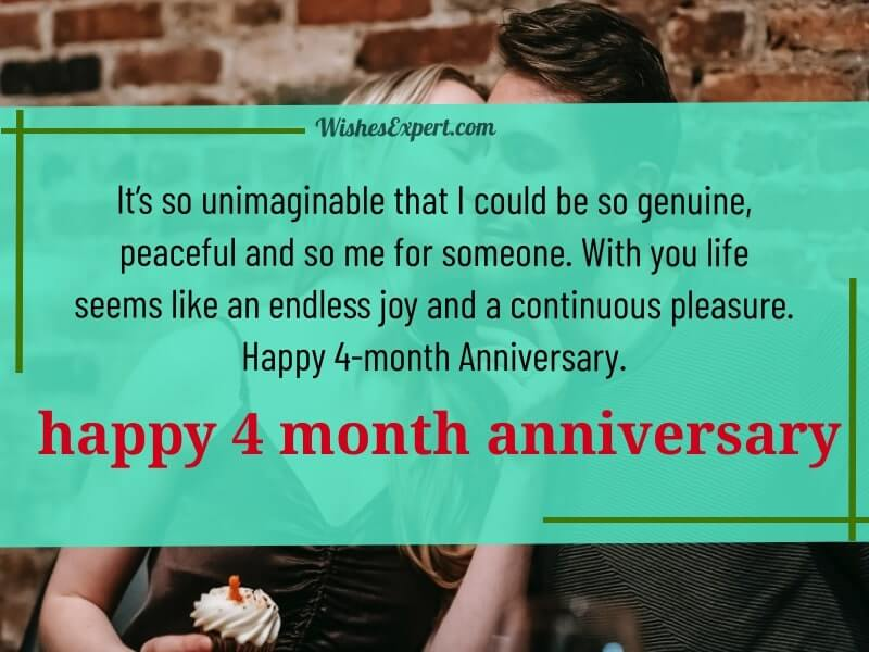 Happy 4 month anniversary