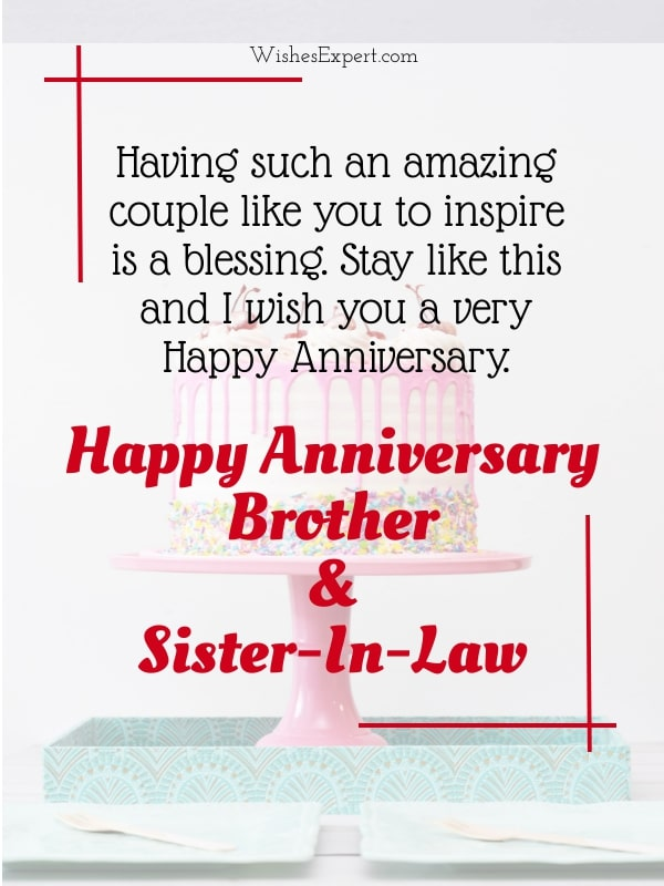 Happy anniversary wishes for brother and sister-in-law with Images