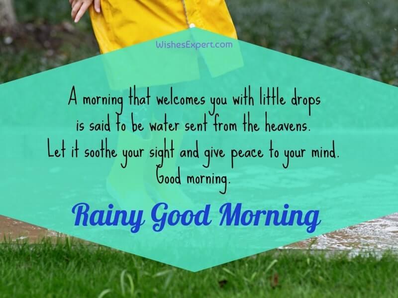 good morning rainy day