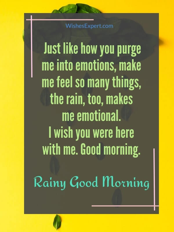 good morning text for her on a rainy day
