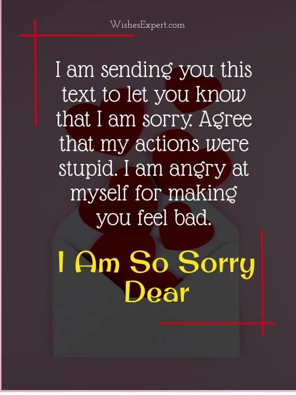 Apology Text to Boyfriend