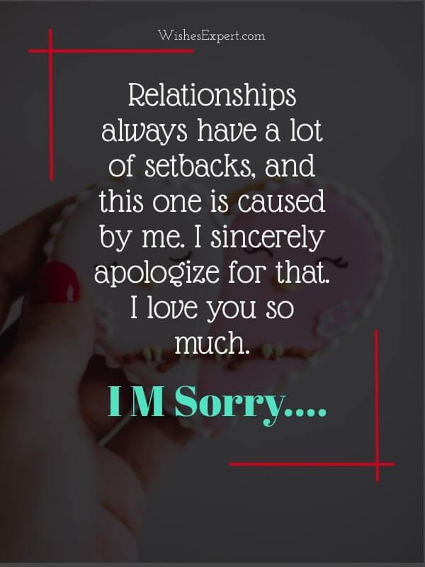 Apology to Boyfriend