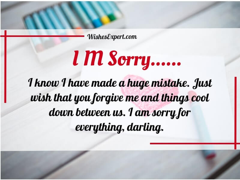 I Am Sorry Quotes For Him