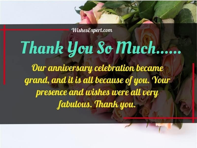 Thank You For Anniversary Wishes